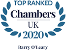 Barry O'Leary Top Ranked in Chambers UK 2020