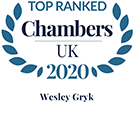 Wesley Gryk Top Ranked in Chambers UK 2020